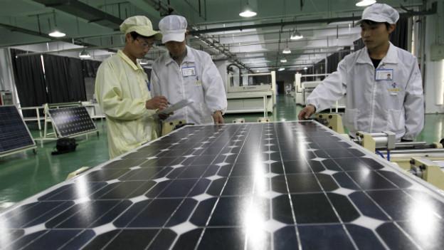 Ein Ärgernis für die EU: billige Solarmodule aus China.