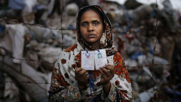 Beim Einsturz in einer Textilfabrik im April 2013 sind über 1000 Menschen ums Leben gekommen.