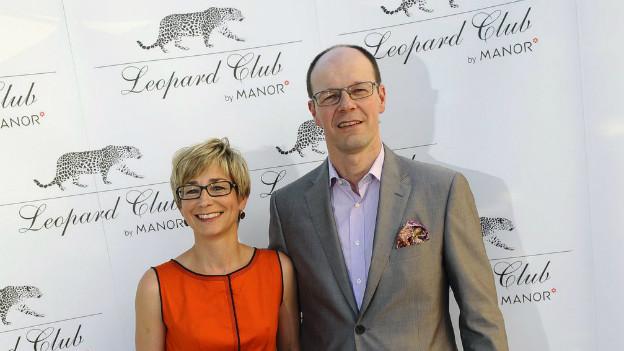 Event des Leopard Club: Bertrand Jungo (CEO Manor) mit Begleitung am Filmfestival Locarno 2010.