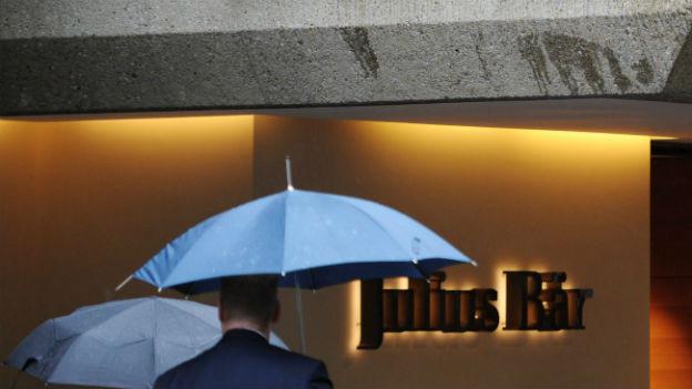 Vor dem Sitz der Bank Julius Bär in Zürich am 9. Oktober 2012