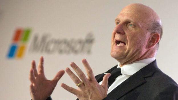 Als Ballmer seinen Rücktritt ankündigte, schoss der Aktienkurs von Microsoft in die Höhe.