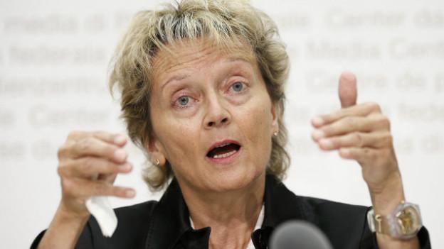Bundesrätin Widmer-Schlumpf bezeichnet die Einigung im Steuerstreit als grossen Schritt.