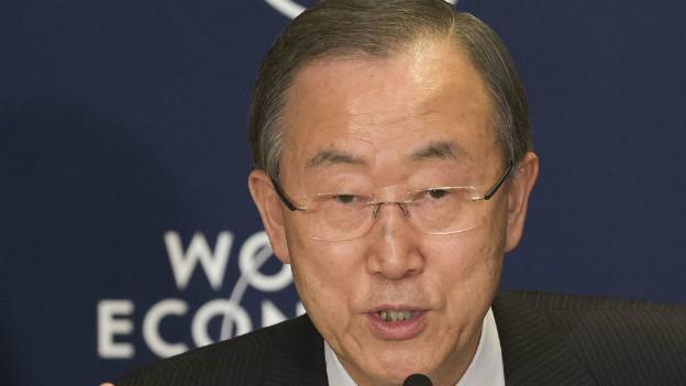 UN-Generalsekretär Ban Ki Moon zum Klimawandel