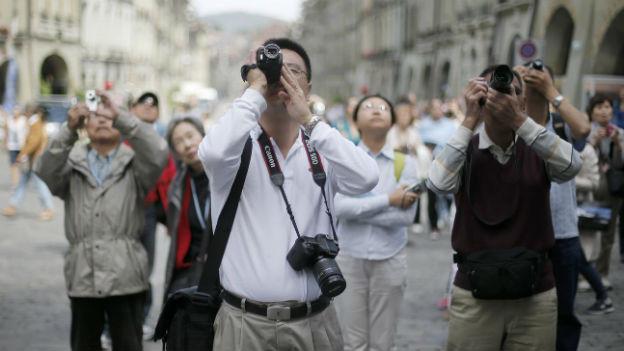 Japanische Touristen in der Schweiz.
