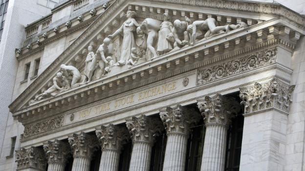 Aufnahme der Fassade der New York Stock-Exchange.