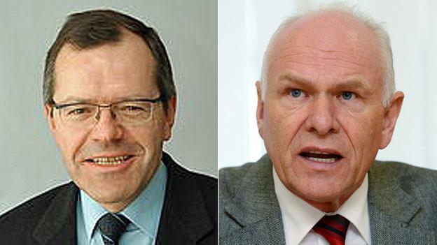 Der Unternehmer Martin Frauenfelder und Swissmem-Präsident Hans Hess.