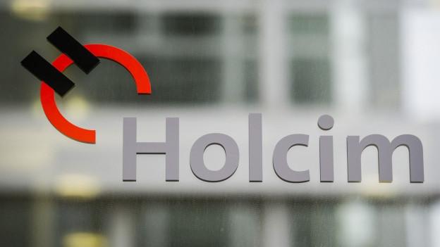Schriftzug der Firma Holcim