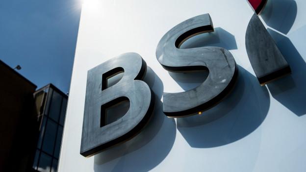 Logo Bank BS auf weissem Grund.