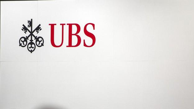 Das rote Logo der UBS auf weissem Grund.