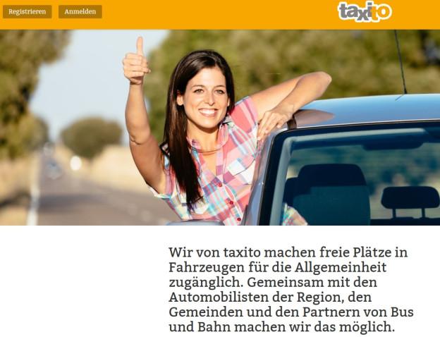 Wer im Raum Luzern eine Mitfahrgelegenheit sucht, kann sich bei taxito.com registrieren.