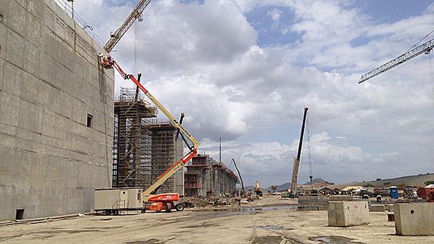 Panamakanal Baustelle.