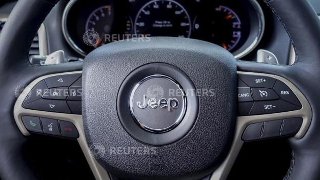 Das Armaturenbrett eines Chrysler