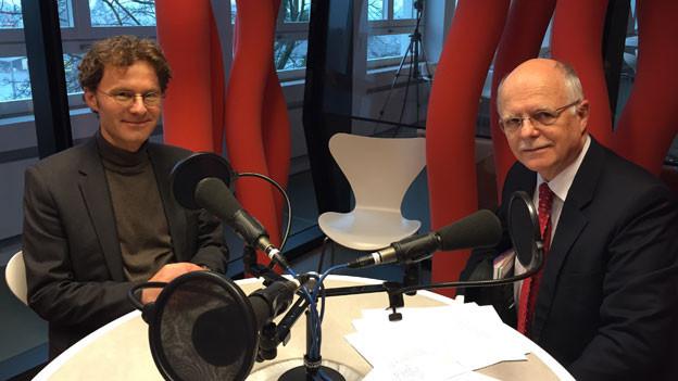 Gewerkschaftsbund-Chefökonom Daniel Lampart (links) und Prof. Dr. em. Martin Janssen (rechts).
