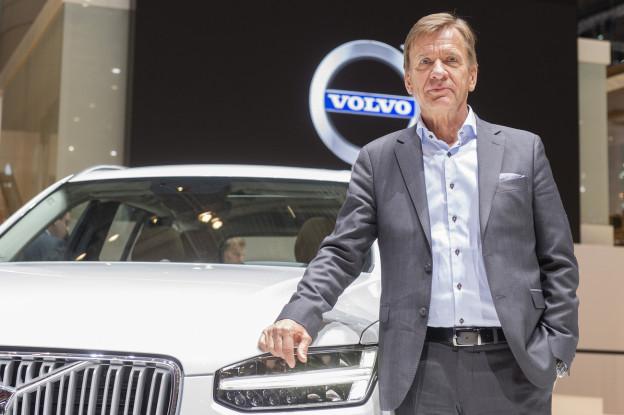 Volvo-Chef Hakan Samuelsson im März 2015 am Genfer Autosalon.