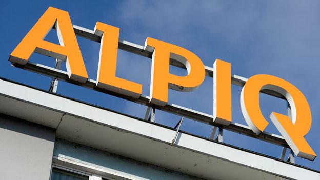 Das Logo von Alpiq am Firmen-Hauptsitz in Olten.
