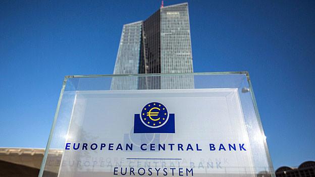 Blick auf den Hauptsitz der Europäischen Zentralbank in Frankfurt.