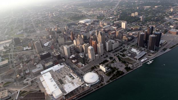 Luftaufnahme von Detroit.