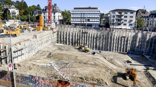 Baustelle für Kunsthaus-Erweiterung in Zürich