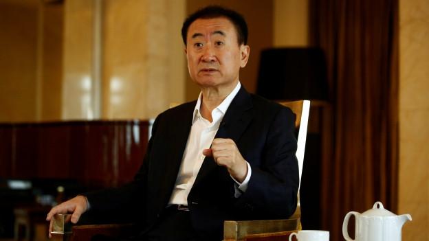 Weiter auf Einkaufstour in Hollywood: Zu sehen ist Wang Jianlin, Chef des chinesischen Konzerns Wanda.