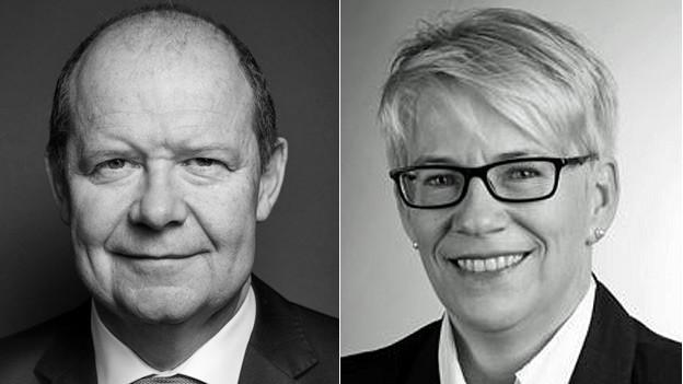 Valentin Vogt und Anita Vogel. Portraitbilder in schwarzweiss.