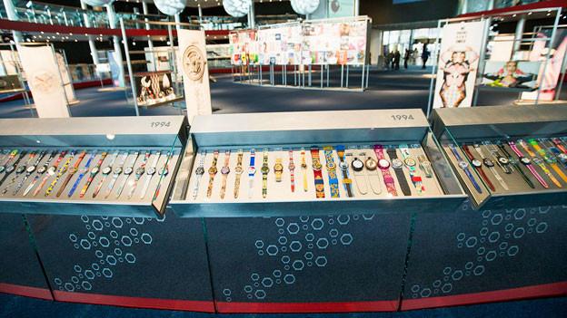 Swatch-Stand an der Baselworld 2013.