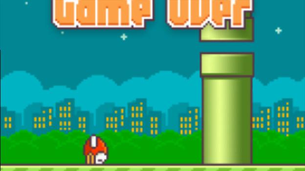 Screenshot des Spiels Flappy Bird
