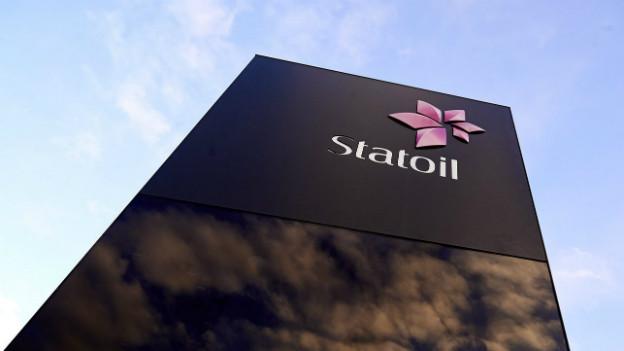 Logo von Statoil am Hauptquartier von Statoil in Stavanger.