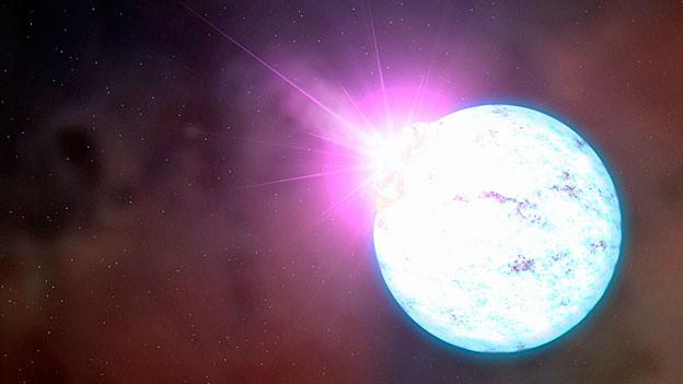 Visualisierung eines Neutronensterns.