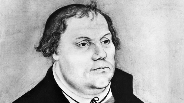 Schwarzweiss Zeitung von Martin Luther.