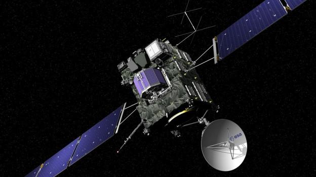 Die Raumsonde «Rosetta» im Weltall