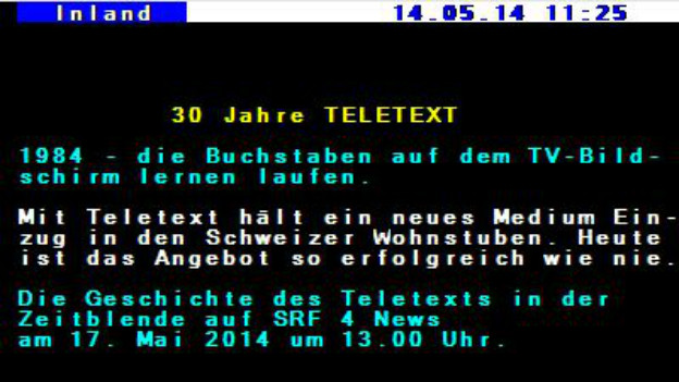 Ein fiktiver Teletext mit dem markanten Design