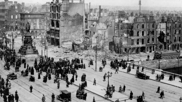 Spuren des Osteraufstandes in Dublin 1916