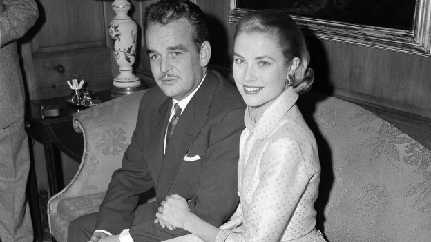 Fürst Rainier und Grace Kelly drei Monate vor ihrer Märchenhochzeit