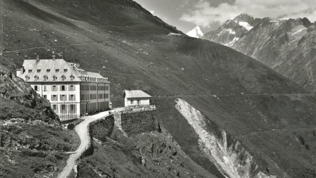 Hotel Jungfrau am Eggishorn (VS) um 1900 - nach dem zweiten Ausbau.