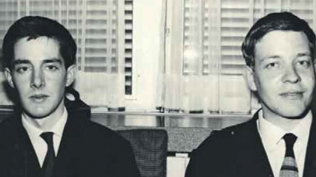 Die beiden Studenten Bernhard Cloetta und Alex Baumgartner kurz nach ihrer Freilassung.