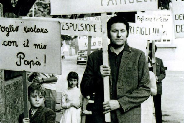 Demonstration von italienischen Migranten