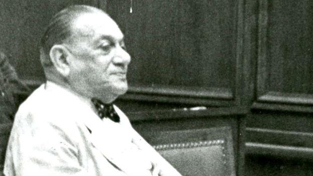 Kurt Landauer, langjähriger Präsident des FC Bayern München, Aufnahme aus dem Jahr 1949.