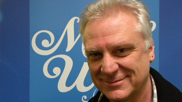 Alphornist Markus Sahli zu Gast im SRF Musikwelle Studio.