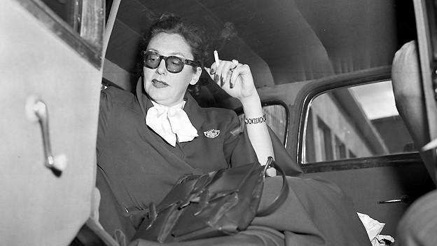 Filmstar Zarah Leander im August 1949 bei einem Besuch in Berlin.