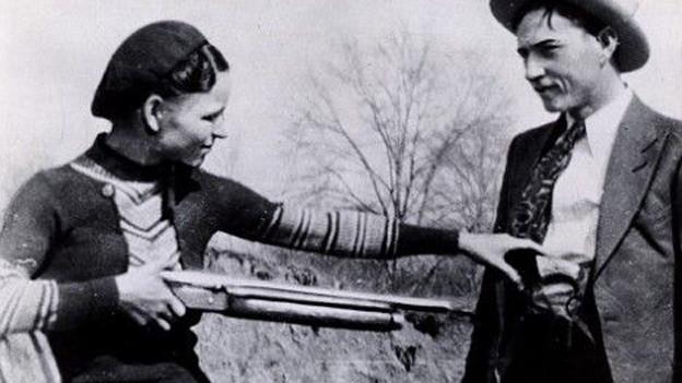 Originalfoto von Bonnie und Clyde im März 1933.