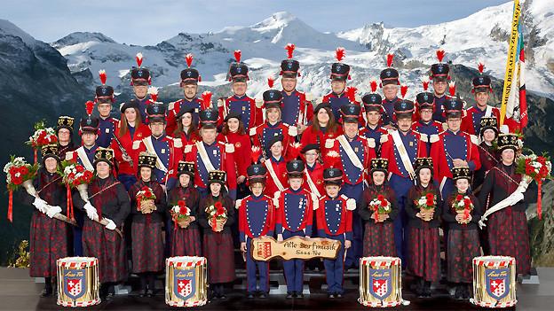 Die Gruppe «Musik der alten Zeit» ist eine der ältesten Musikgesellschaften des Wallis.