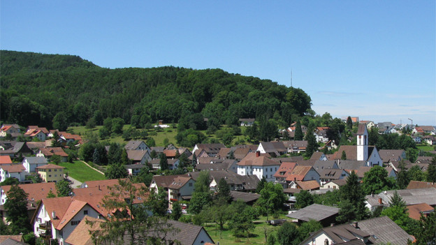 Blick auf Zeiningen im Kanton Aargau.