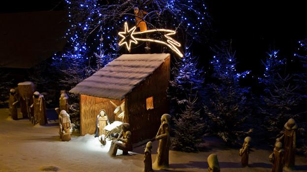 Der Stern von Betlehem als Symbol Christi Geburt.