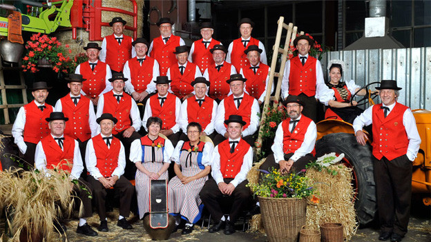 Gruppenfoto vom Schützenchörli Schmitten aus dem Jahr 2011.