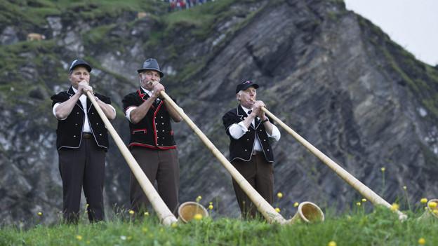 Das Alphorn zählt zu einem Schweizer Markenzeichen.