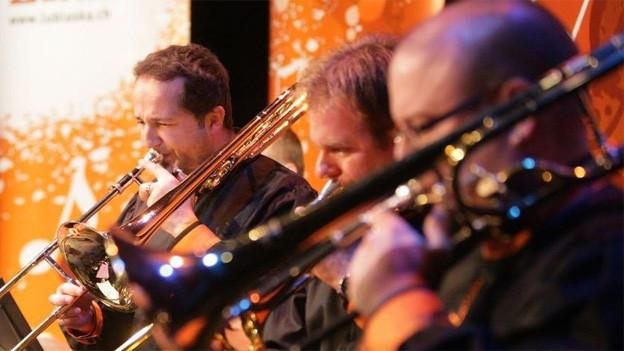 Die Blaskapelle Lublaska wurde bei ihrem Auftritt im Rahmen der Swiss Folkmusic-Gala von Gastmusikern begleitet.