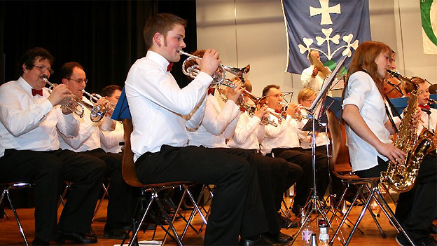Musikantinnen und Musikanten der Musikgesellschaft Murgenthal am Jahreskonzert 2012.