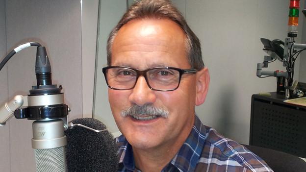 Neu-Rentner Willi Loosli zu Besuch im Radiostudio.