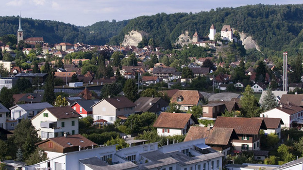 Hoch über Burgdorf thront das Schloss mitsamt Goldmuseum.