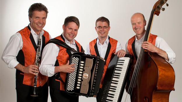Die Kapelle René Jakober ist eine von 13 Formationen, die am 7. «Jodel- und Ländlerkonzert» im KKL Luzern auftreten.
